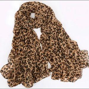 Leopard Chiffon Scarf